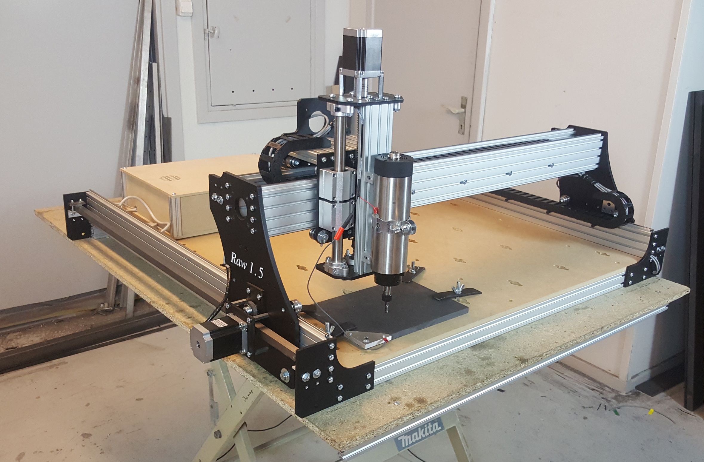 Raw 15 cnc do it yourself kit 100x100cm with racks and pinions product description solutioingenieria Choice Image