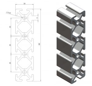 aluminiumprofil-20x80