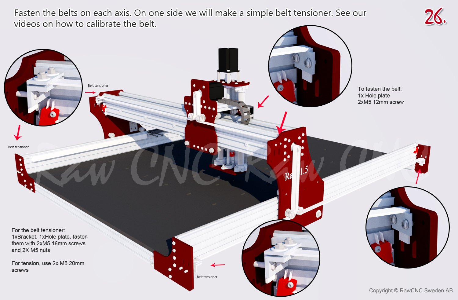 Raw 15 Cnc Machine 100x100mm With 15mm Steel Reinforced Timing Belt Belts And Pulleys Free Shipping In Europe