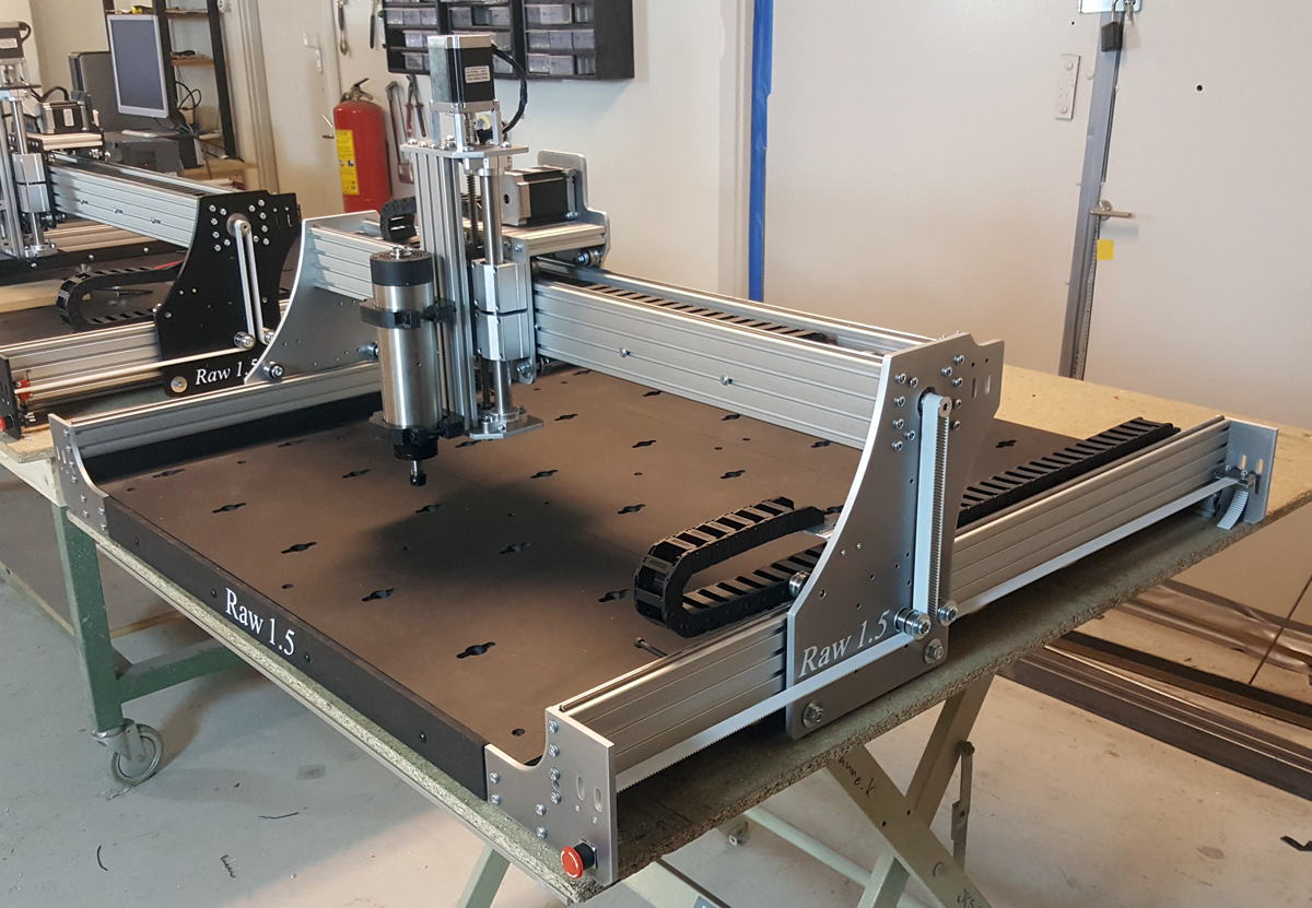 Raw 1 5 Cnc Machine 100x100mm With 15mm Steel Reinforced
