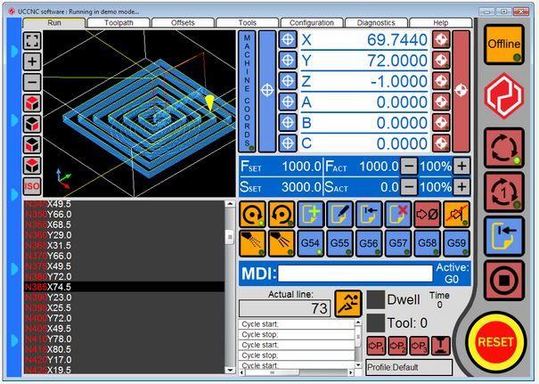 UCCNC software